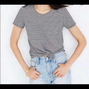 Madewell Knot Front Tee in Stripe